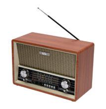 Retro asztali rádió, MP3-BT, 4 sávos