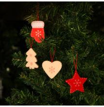 Karácsonyfadísz szett 12 db 5 cm