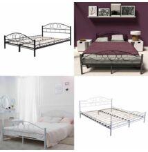 Fém ágykeret ágyráccsal 160*200 cm - fehér