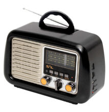 Retro táskarádió, MP3-BT, 3 sávos